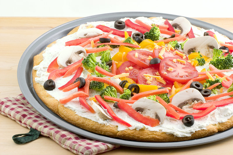Pizza, de zomergroente stock foto
