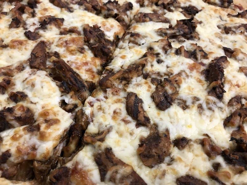 Pizza del cerdo del Bbq Pullord imagen de archivo libre de regalías