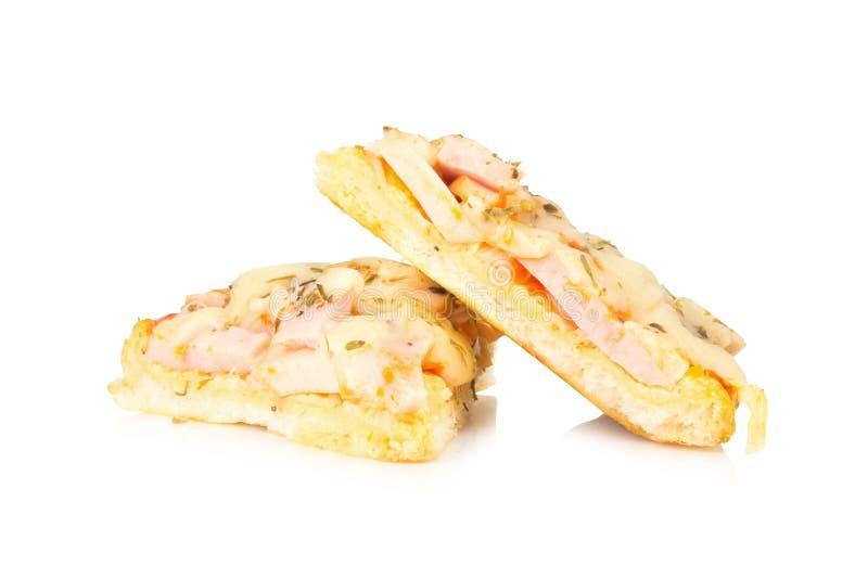 Pizza pizza del cocinero de la madre de Tailandia para childern aislada en blanco imágenes de archivo libres de regalías