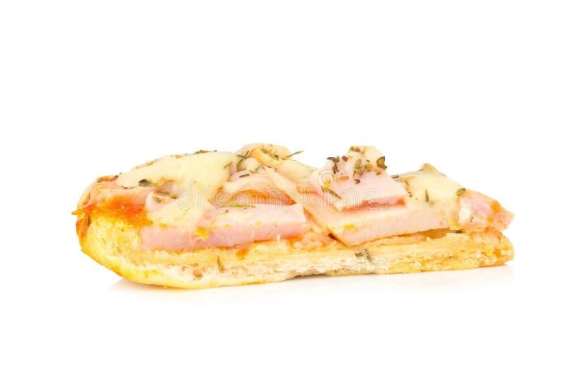 Pizza pizza del cocinero de la madre de Tailandia para childern aislada en blanco fotos de archivo