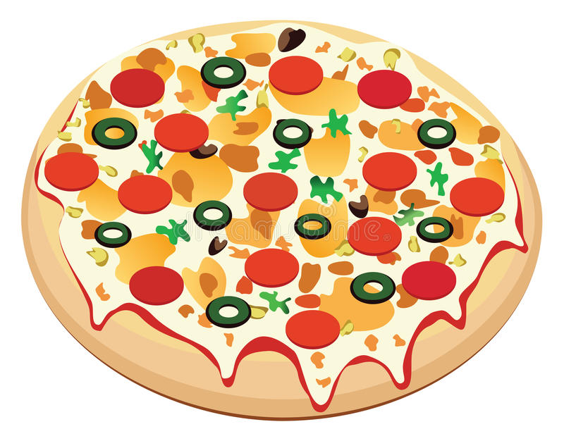 Pizza del vector stock de ilustración