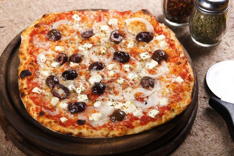 Pizza deliciosa imagem de stock royalty free