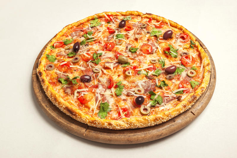 Pizza deliciosa imagens de stock