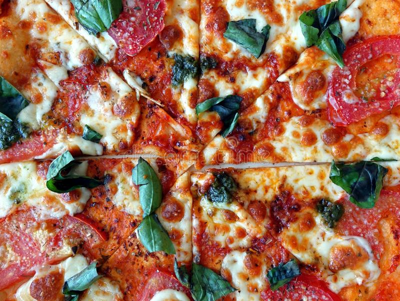Pizza deliciosa Margherita imágenes de archivo libres de regalías
