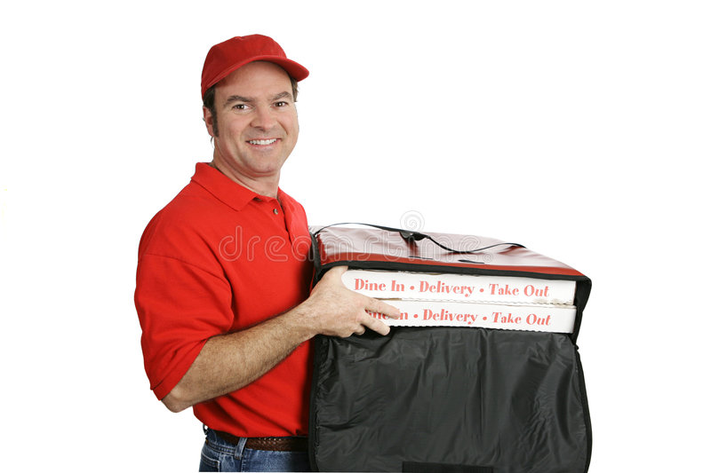 Pizza Delivered Hot & Fresh Royalty Free Stock Image
