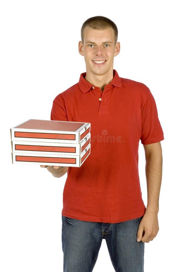 Pizza deliverer stock photos