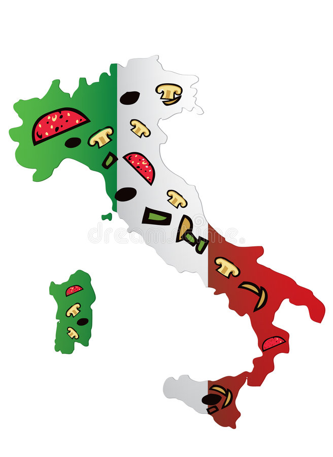 Pizza dell'Italia fotografie stock libere da diritti