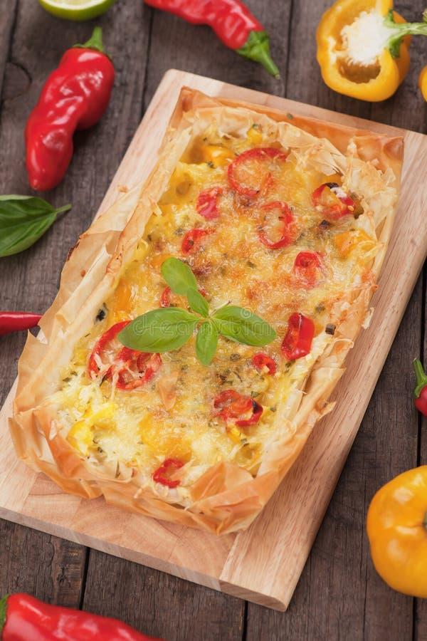 Pizza della pasticceria di Phyllo fotografia stock libera da diritti