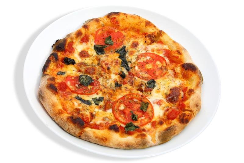 Pizza dello sprim di Veg, pizza fresca, isolata immagini stock
