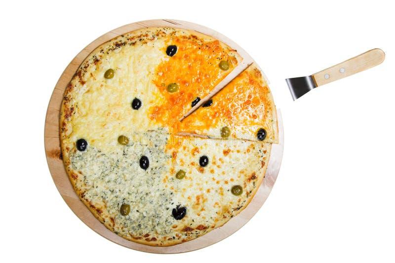 Pizza des Käses vier lizenzfreies stockfoto