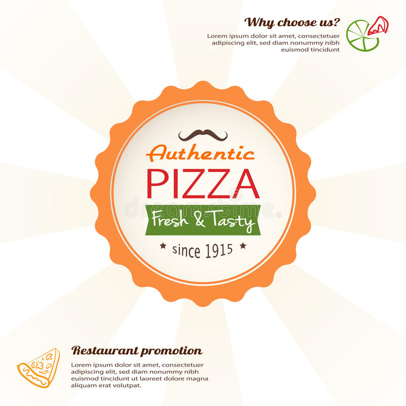 Download Pizza Design Template For Menu, Banner, Advertising Etc Stock Vector - Image: 32076382
