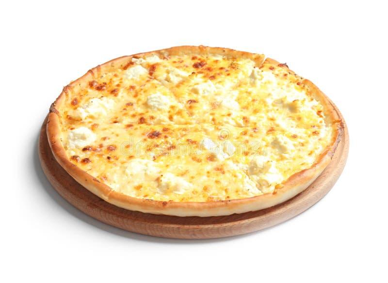 Pizza di formaggio calda saporita immagini stock