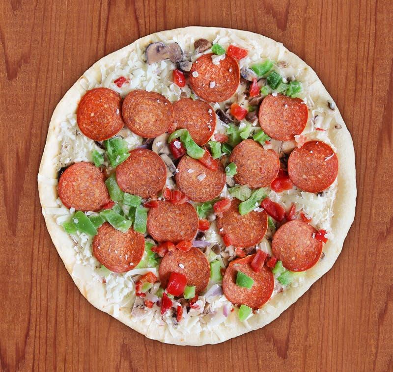 Pizza di lusso - congelata fotografia stock