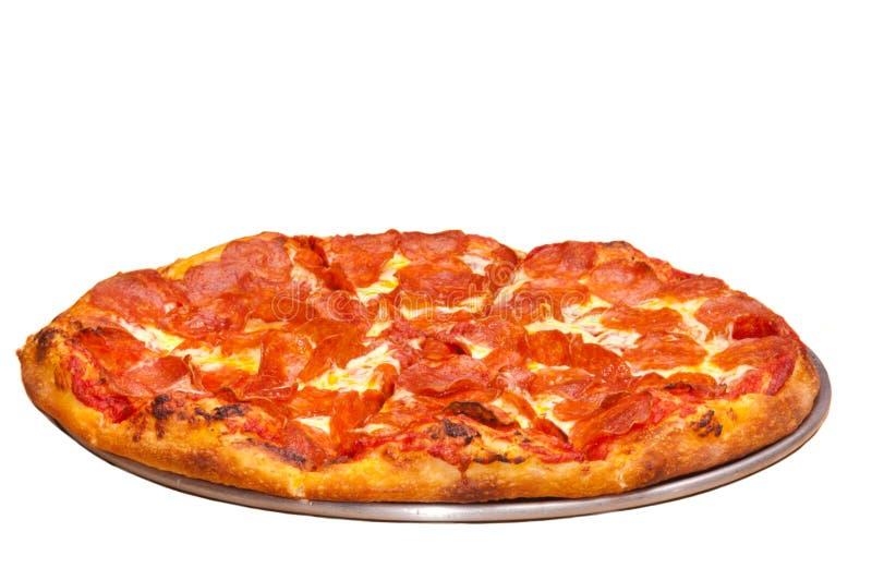 Pizza di merguez fotografia stock libera da diritti