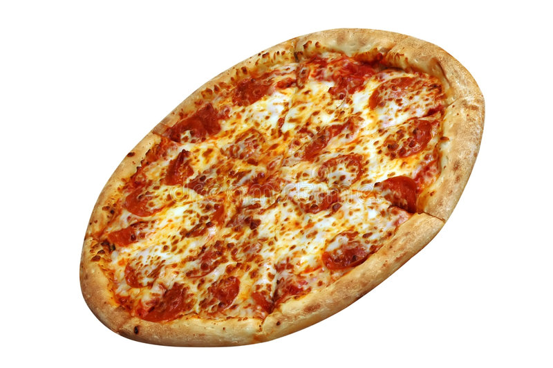 Pizza di merguez isolata fotografie stock