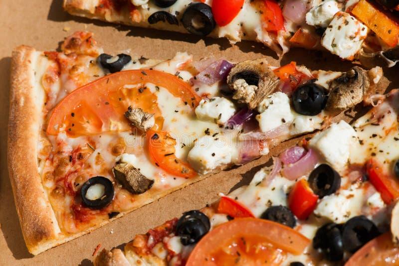 Pizza di verdure fotografie stock