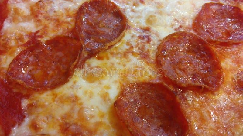 Pizza diavola stockfotografie