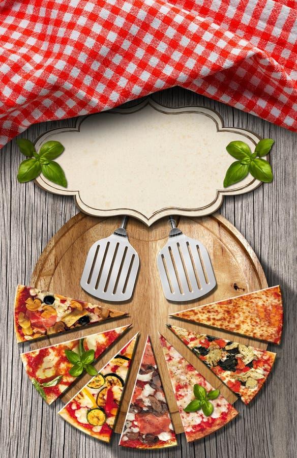 Marco Rojo De La Pizza De La Guinga Stock de ilustración - Ilustración de corteza, plato: 43552997