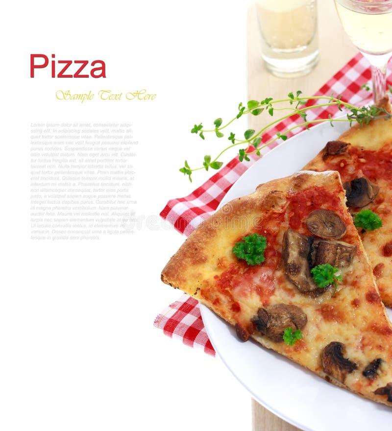 Pizza do cogumelo imagem de stock royalty free