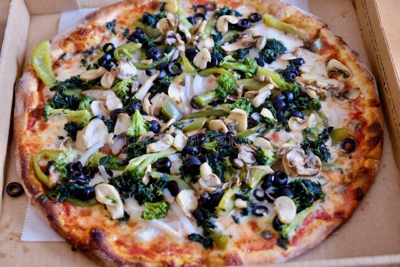 Pizza do delite do vegetariano fotografia de stock royalty free