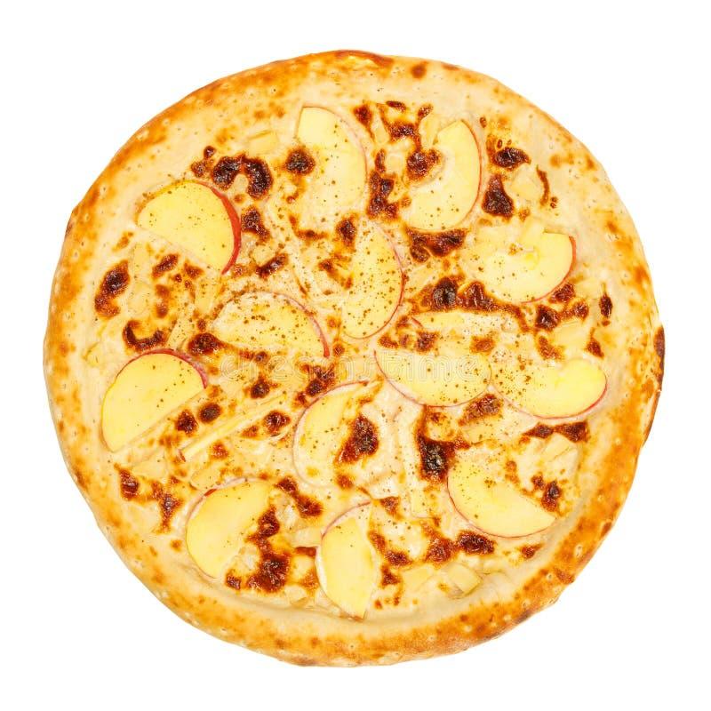 Pizza do fruto com abacaxi fotografia de stock