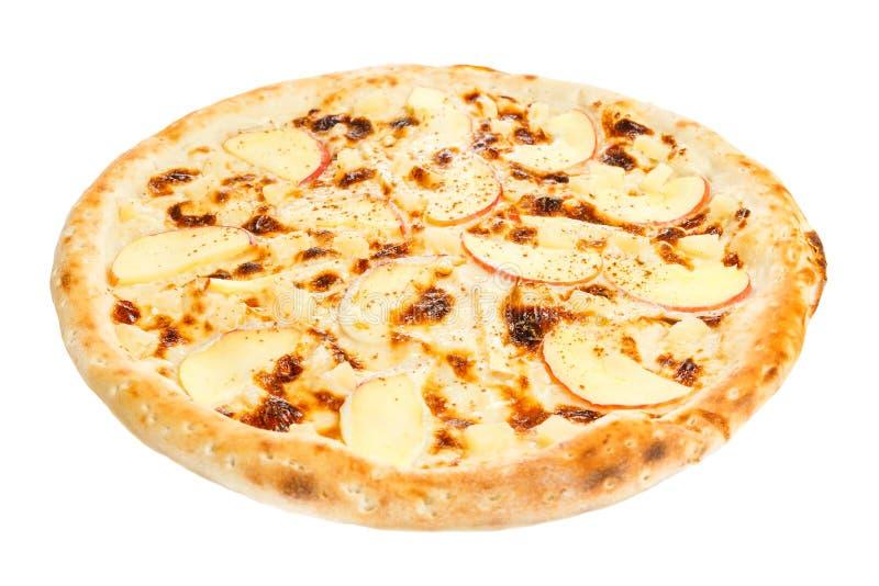 Pizza do fruto com abacaxi fotos de stock