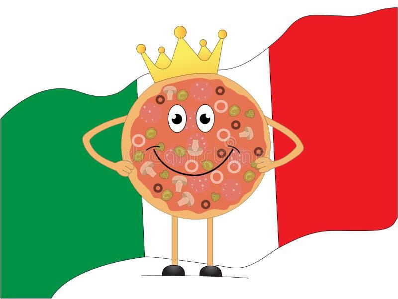 Pizza do rei ilustração do vetor