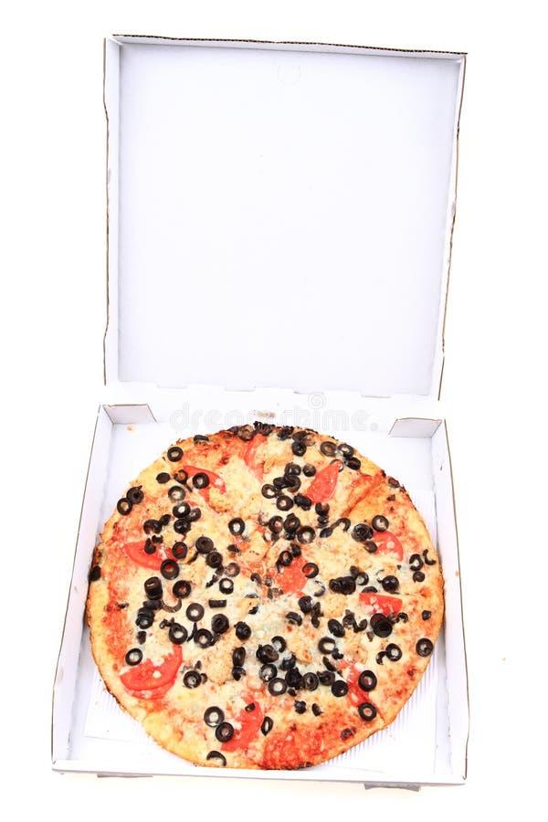 pizza do tomate com queijo e azeitonas fotografia de stock