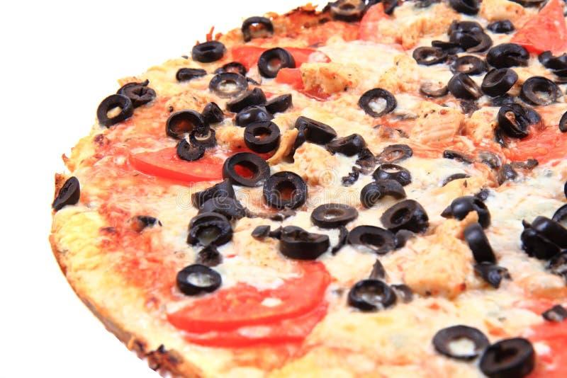pizza do tomate com queijo e azeitonas fotos de stock
