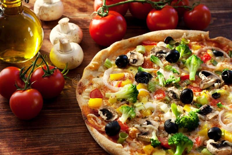 Pizza do vegetariano fotos de stock