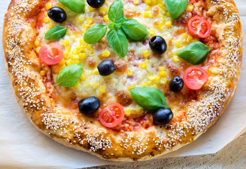 Pizza do vegetariano fotos de stock royalty free