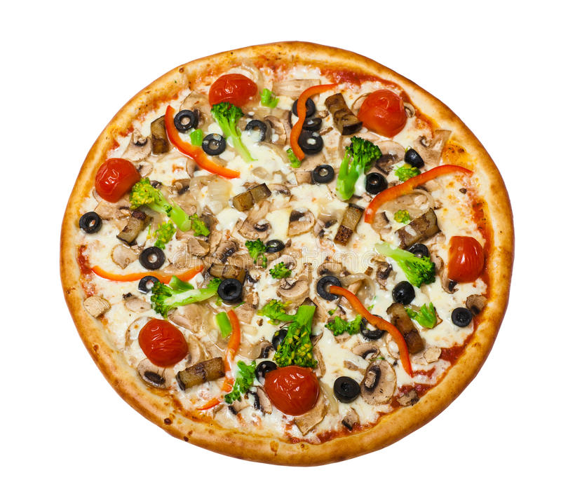 Pizza do vegetariano com cogumelo imagem de stock