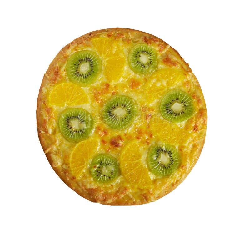 Pizza doce com fruto imagem de stock royalty free