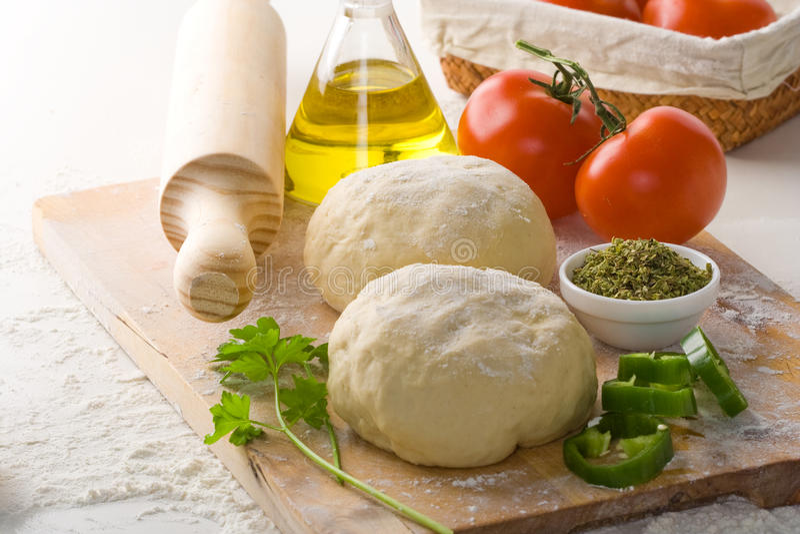 Pizza dough stock image