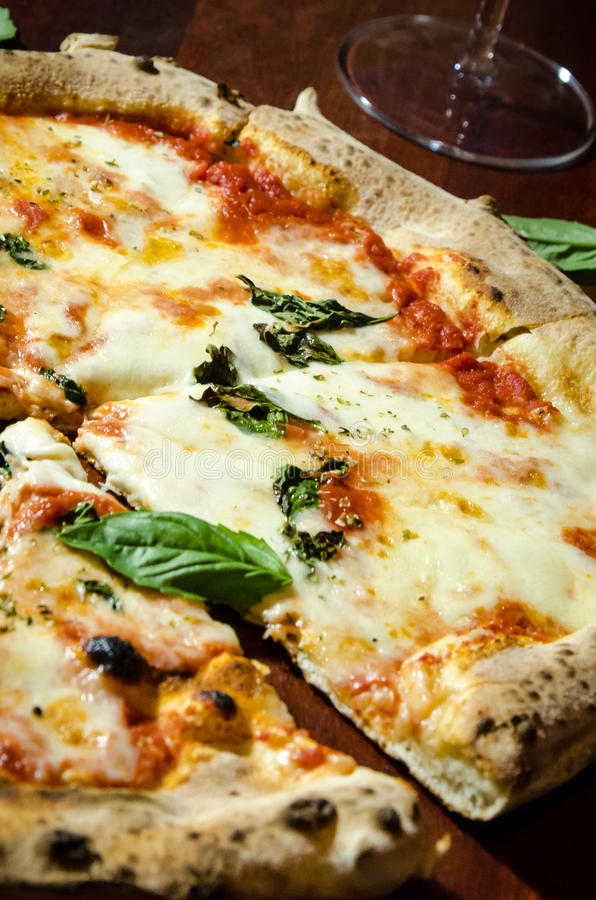Pizza Drewniany ogień obrazy royalty free