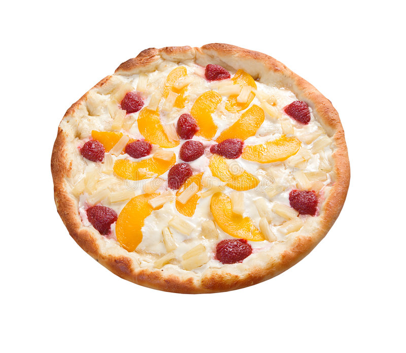 Pizza dulce con la fruta, imagenes de archivo