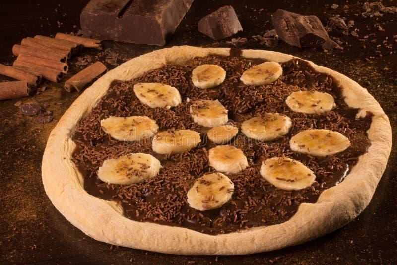 Pizza dulce del banna fotos de archivo