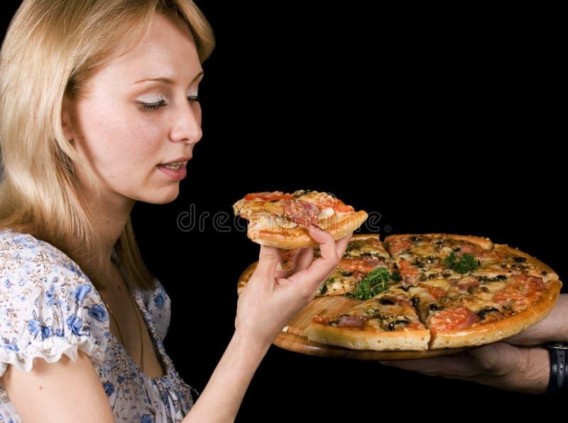 pizza dziewczyny obrazy royalty free