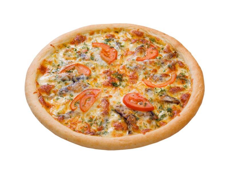Pizza e cozinha italiana. arenques pequenos imagens de stock royalty free