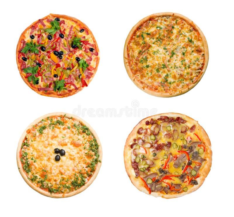 Pizza e cozinha italiana. Isolado fotos de stock royalty free