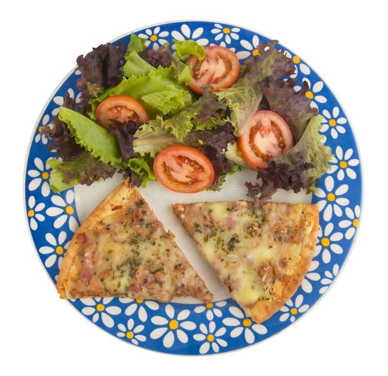 Pizza e salada imagem de stock royalty free