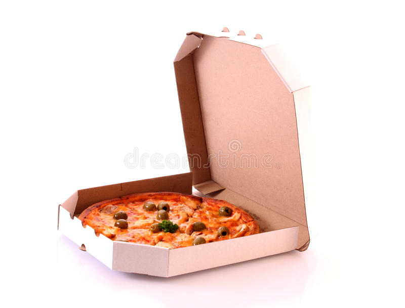 Pizza en rectángulo foto de archivo libre de regalías