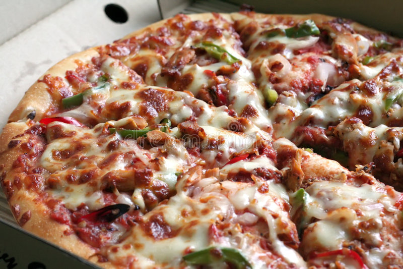 Pizza entera foto de archivo