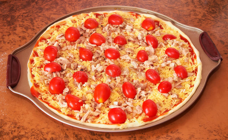 Pizza faite maison photo stock