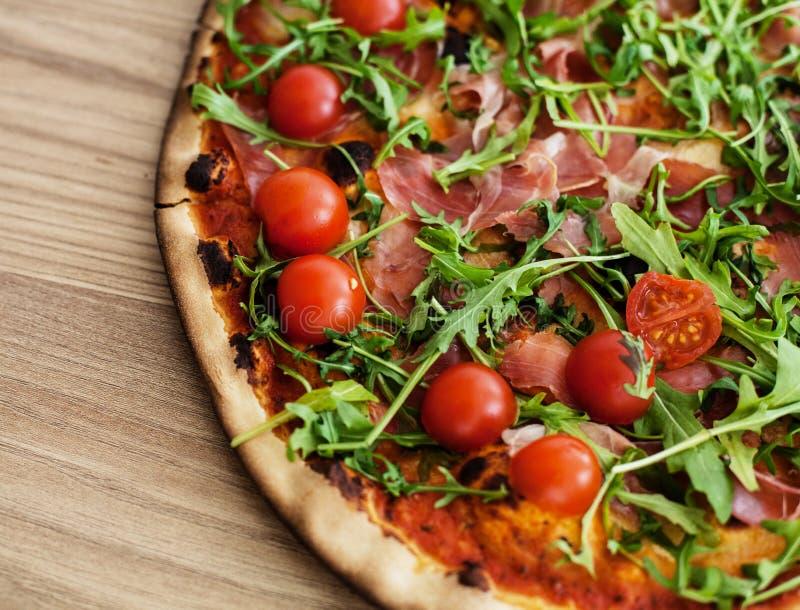 Pizza fasta food Świeży Piec obraz stock