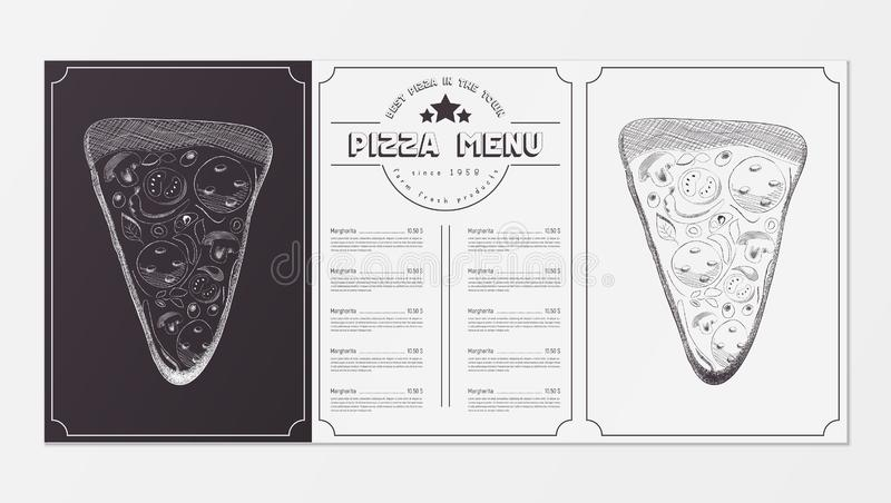 Pizza Food Menu vector illustration