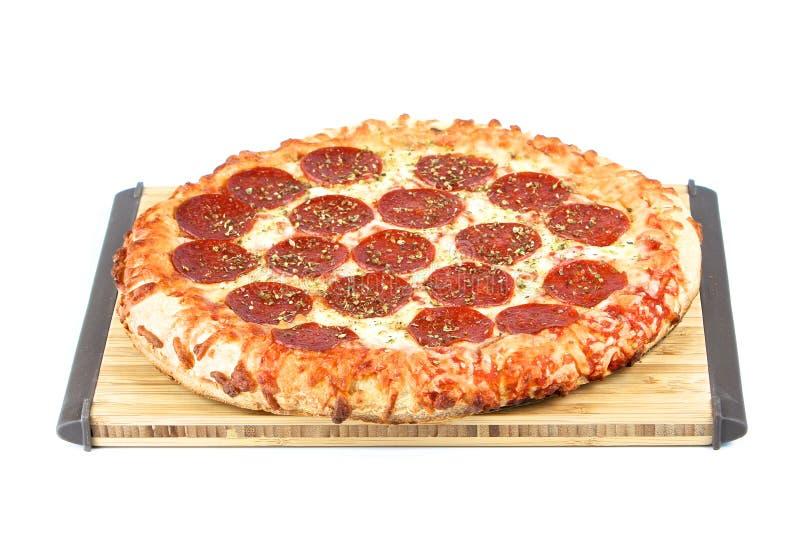 Pizza fresca fotografia stock