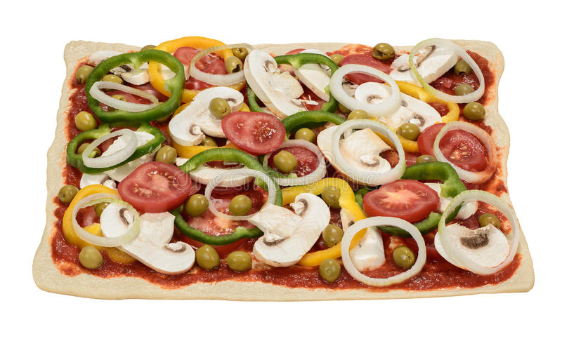 Pizza. Fresh big self topped pizza stock images