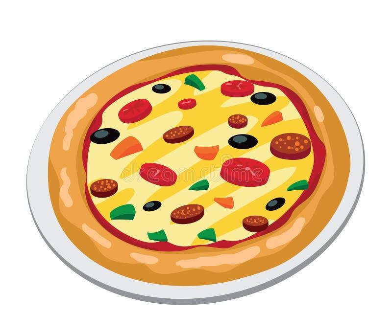 Pizza grande ilustração do vetor