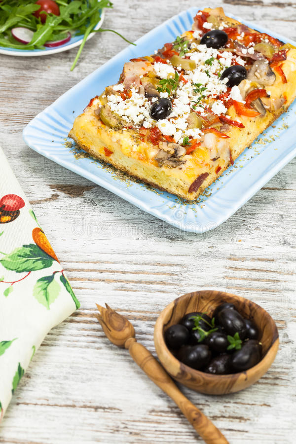 Pizza grega fotos de stock royalty free